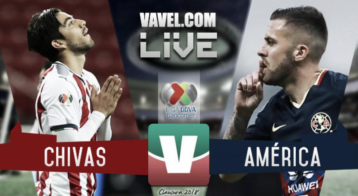 Goles y resultado del Chivas 1-1 América en Liga MX
