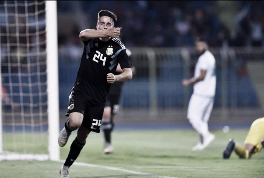 Primer gol de Cervi en la Selección