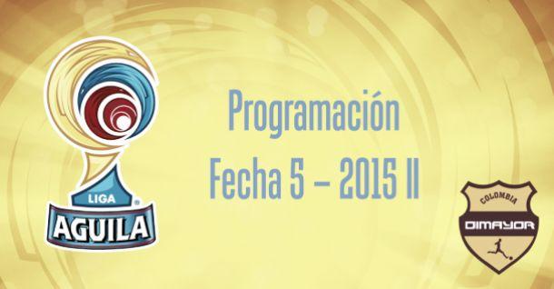 Así se jugará la fecha 5 de la Liga Águila 2015-II