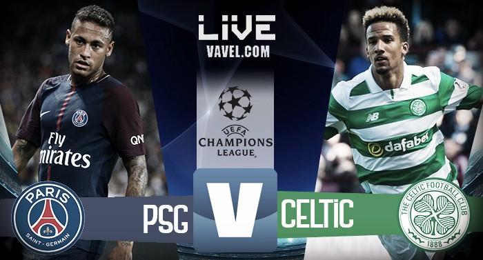 Risultato Celtic - PSG in diretta, LIVE Champions League 2017/18 - Neymar, Mbappé, Lustig (OG) Cavani(2) (0-5)