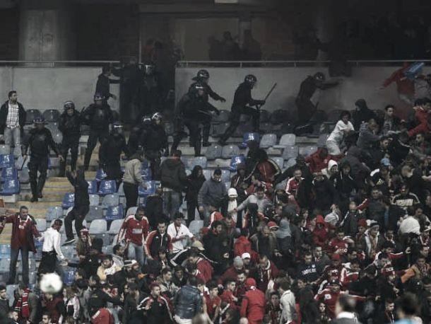 Desacatos de adeptos benfiquistas em Coimbra: PSP justifica carga