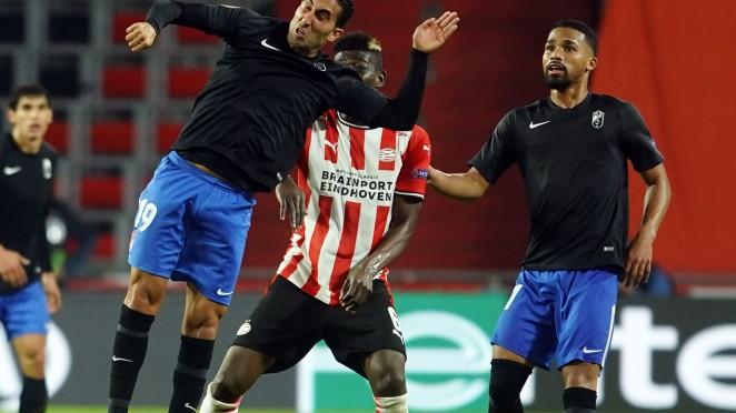 Imagen del encuentro de la primera vuelta entre PSV EIndhoven y Granada CF | Foto: Pepe Villoslada / Granada CF
