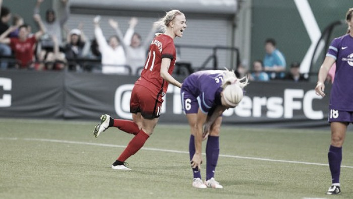 Portland Thorns topple Orlando Pride late to seal first three points of season