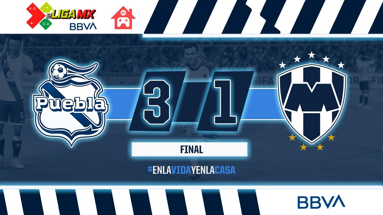 Puebla vence a Rayados y aún aspira a la calificación en eLiga MX