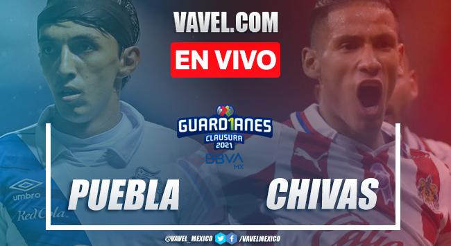Goles y resumen del Puebla 1-1 Chivas en Liga MX Guard1anes 2021