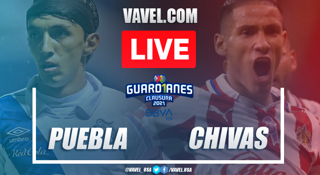 Goals and Highlights of Puebla 1-1 Chivas on Guard1anes 2021
