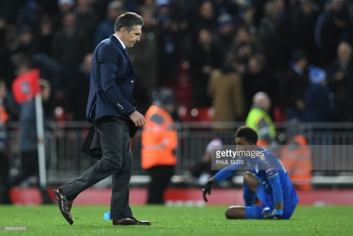 "Claude Puel: Leicester defeat at Liverpool a ""big disappointment"" after leading so early on"