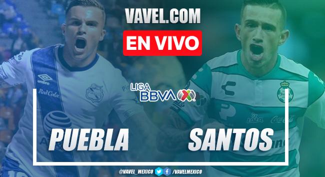 Goles y resumen: Puebla 2-2 Santos en Clausura 2020