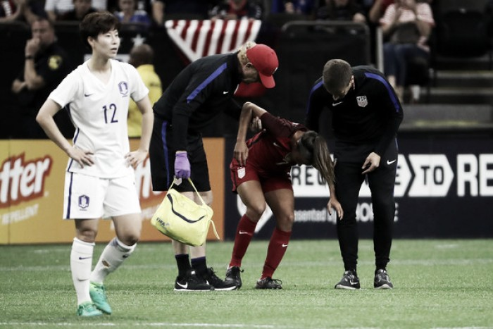 Mallory Pugh injured for the second game of series with Korea Republic