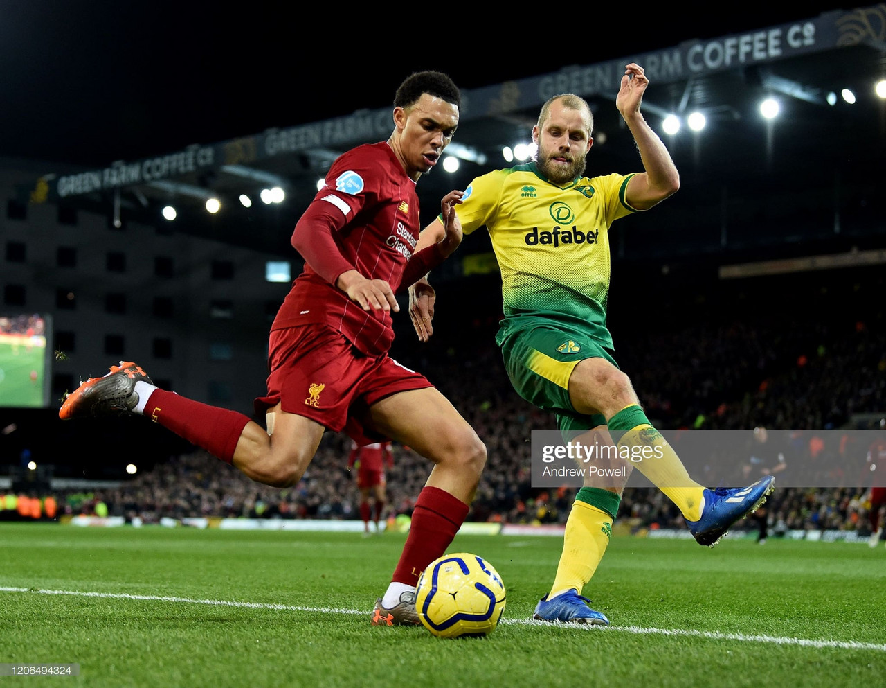 No outlet for Norwich against the full force of a ferocious Liverpool attack