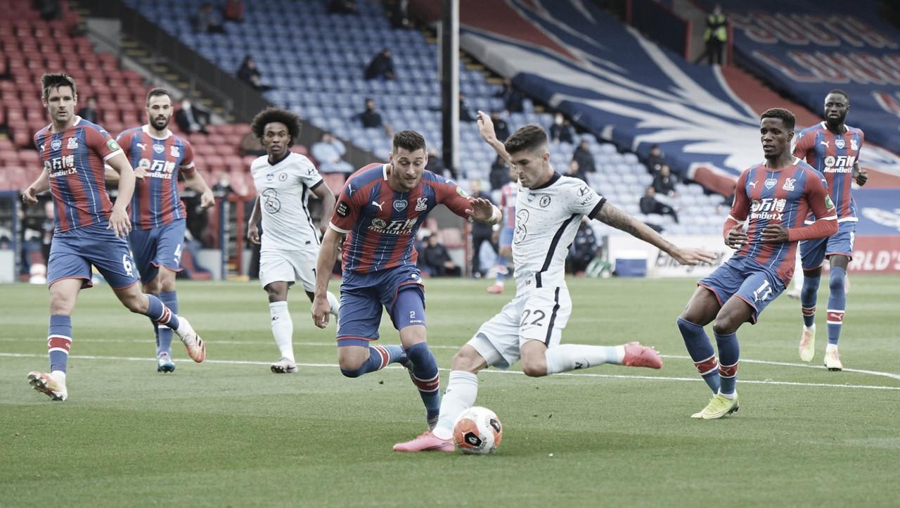 Em movimentado duelo londrino, Chelsea confirma favoritismo e bate Crystal Palace