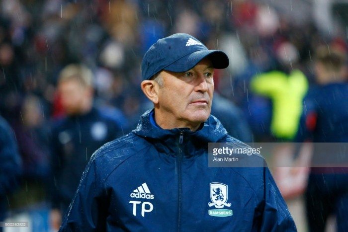 Middlesbrough to work with what they've got, says Tony Pulis