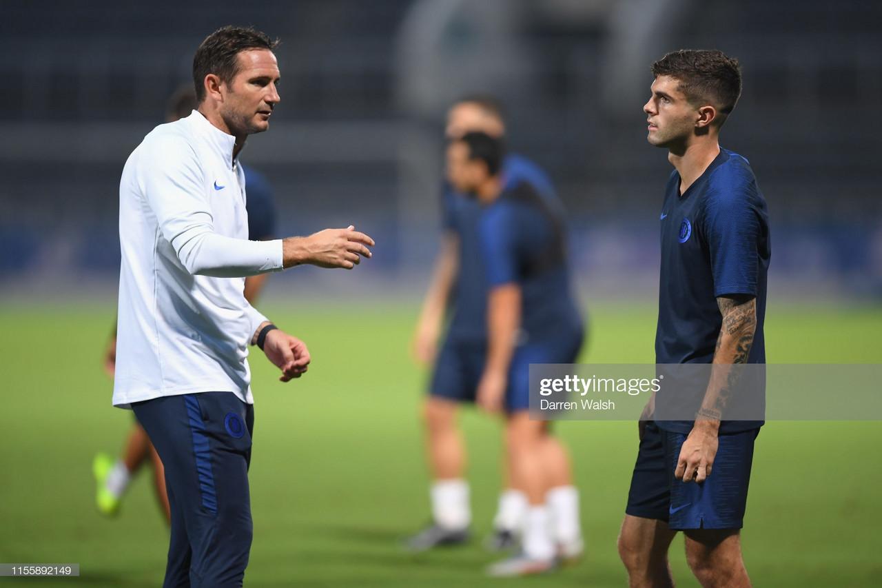 Christian Pulisic praises Chelsea boss Frank Lampard