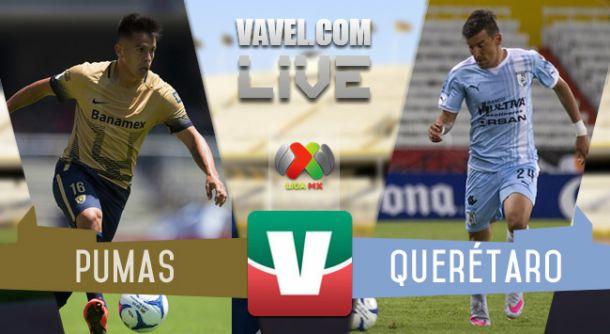 Resultado Pumas - Querétaro en Liga MX 2015 (2-1)