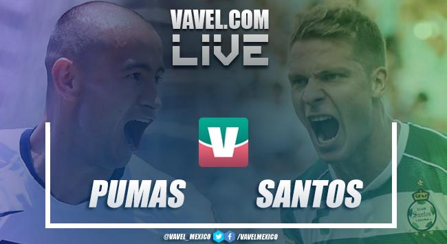 Pumas y Santos repartes unidades (1-1)
