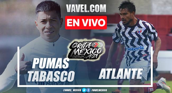 Goles y resumen del Pumas Tabasco 0-2 Atlante en Liga de Expansión MX