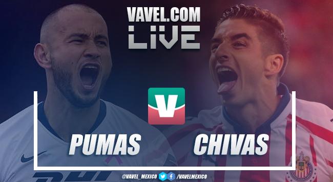 Resumen y goles del Pumas UNAM 2-1 Chivas de la Liga MX 2019