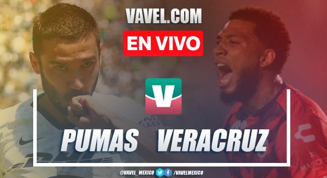 Pumas UNAM vs Veracruz en vivo cómo ver transmisión TV online en Liga MX 2019 (0-0)