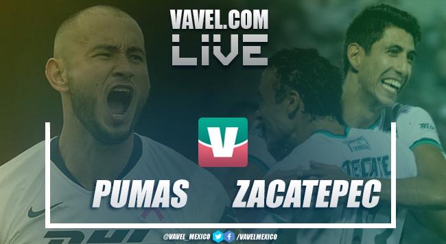 Resumen Pumas 3-0 Zacatepec en Copa MX en 2019