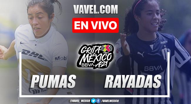 Goles y resumen del Pumas 0-3 Rayadas Monterrey en Liga MX Femenil 2021