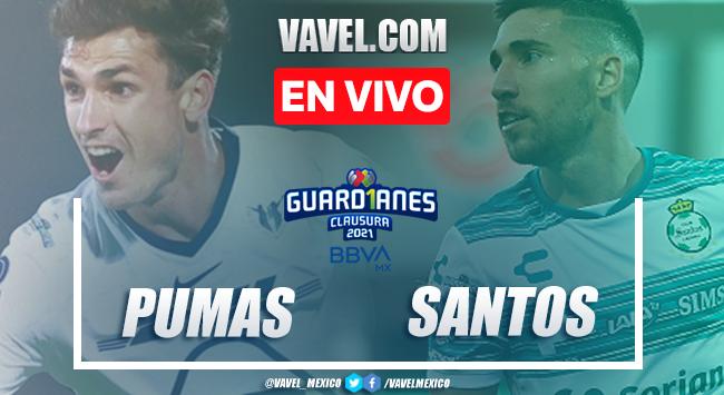 Gol y resumen: Pumas 1-0 Santos Liga MX Guardianes 2021