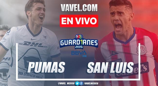 Goles y Resumen del partido Pumas 3-0 San Luis en la Jornada 10 del Guard1anes 2020