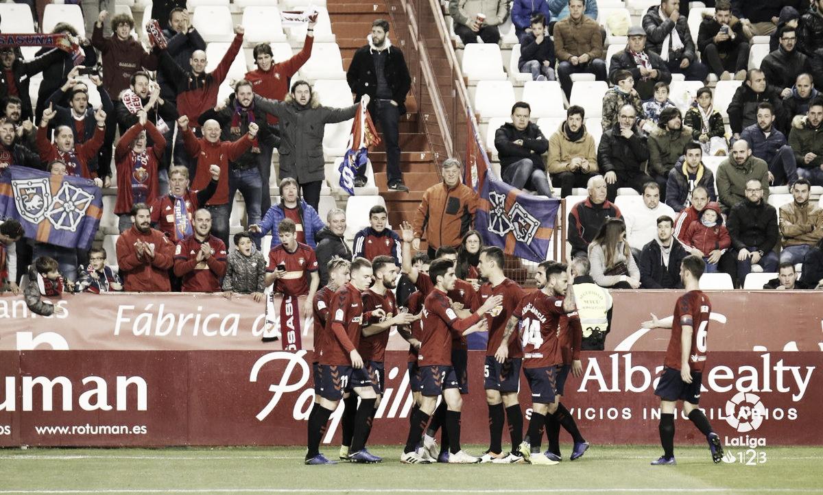 Albacete - Osasuna: puntuaciones de Osasuna de la decimoséptima jornada de LaLiga 1|2|3