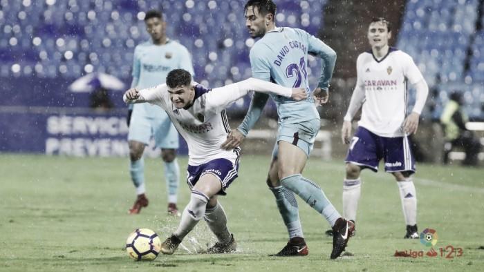 Puntuaciones Real Zaragoza - FC Barcelona B: jornada 21