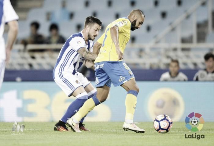 Real Sociedad- UD Las Palmas, puntuaciones visitantes, jornada 5 en Primera División 2016