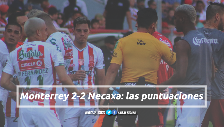 Puntuaciones de Necaxa en la jornada 16 de la Liga MX CL19