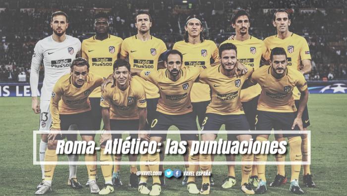 AS Roma - Atlético de Madrid: puntuaciones Atleti, 1º jornada UCL