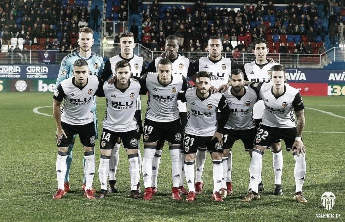 Puntuaciones SD Eibar vs Valencia CF