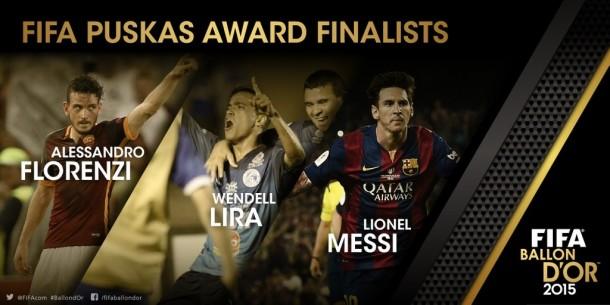 Puskas Award, Florenzi con Messi e Wendell Lira per il premio