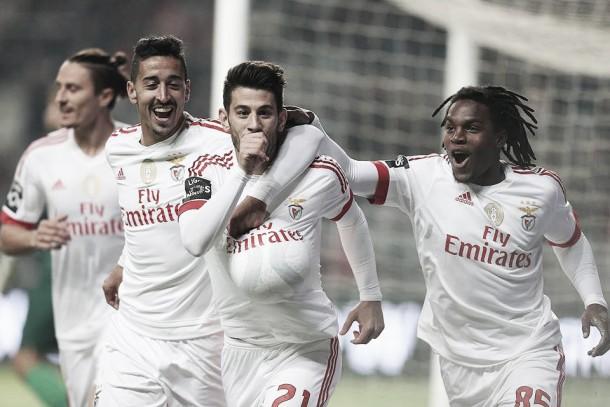 Águia voa mais alto e conquista 3 pontos em Braga com golos de Pizzi e Lisandro