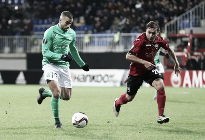 Saint-Étienne vence Qabala de virada e mantém invencibilidade na Europa League