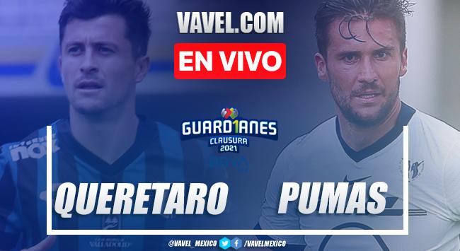 Goles y resumen: Querétaro 2-0 Pumas en Liga MX Guardianes 2021