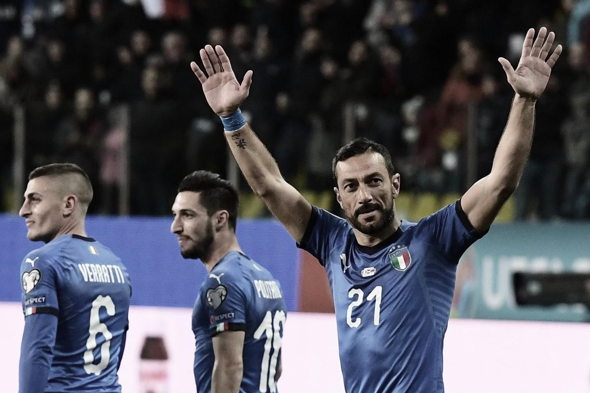 Com boa participação deQuagliarella,Itália cumpre expectativa e goleia Liechtestein