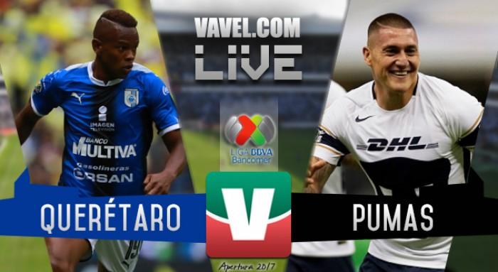 Querétaro vs Pumas UNAM en vivo online en Liga MX 2017 (0-0)