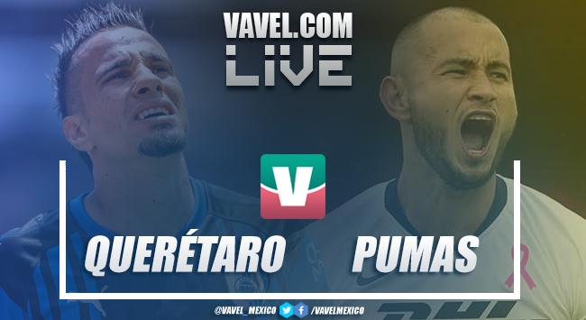 Resumen y goles del partido Querétaro 0-2 Pumas en Liga MX 2019