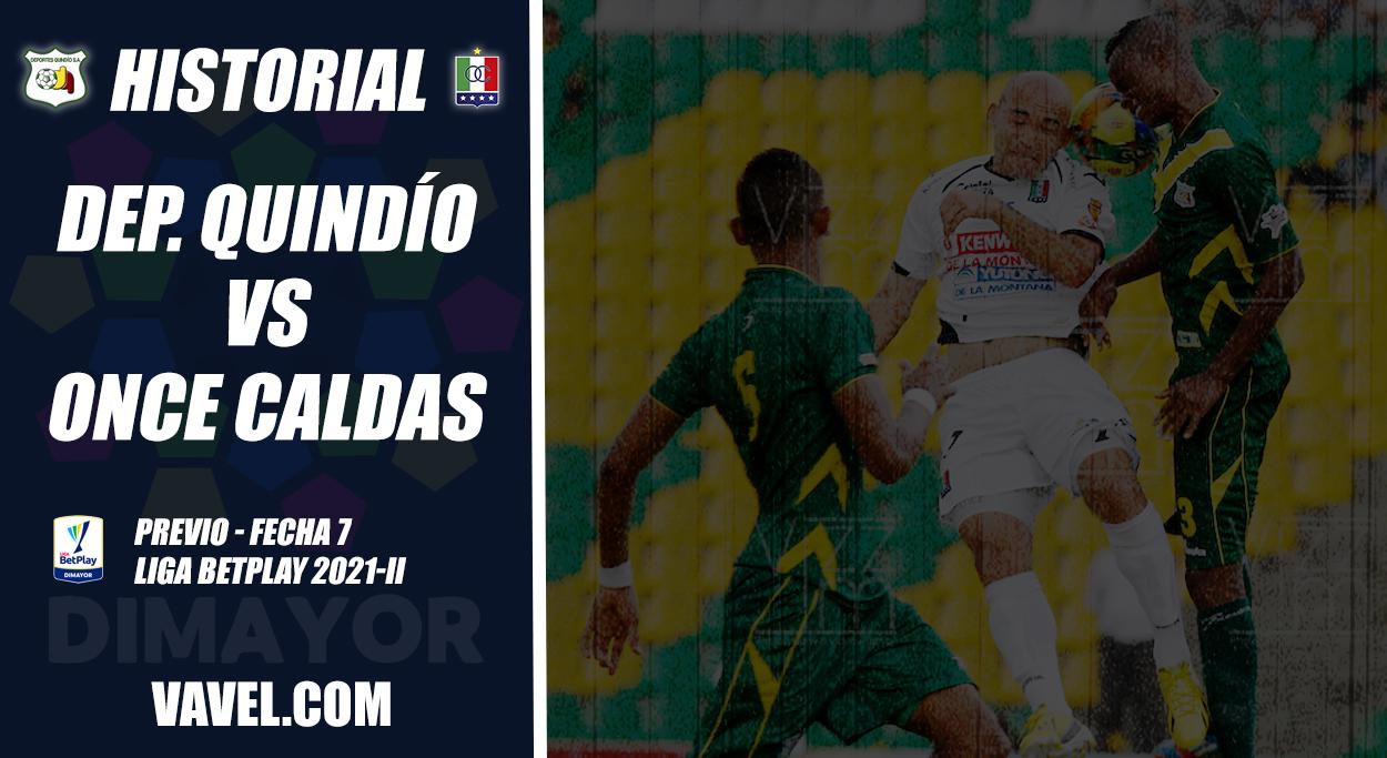 Historial Deportes Quindío vs Once Caldas: ventaja del 'cuyabro' en su terreno
