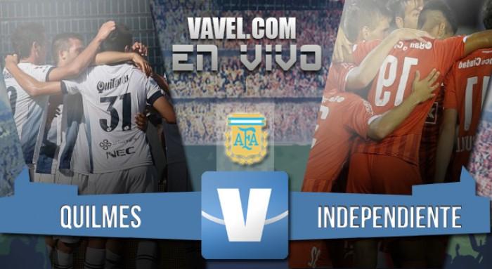 Resultado de Quilmes e Independiente por el Torneo de Transición 2016 (0-3)
