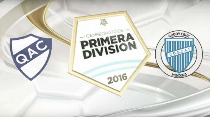 Resultado Quilmes - Godoy Cruz (1-3)