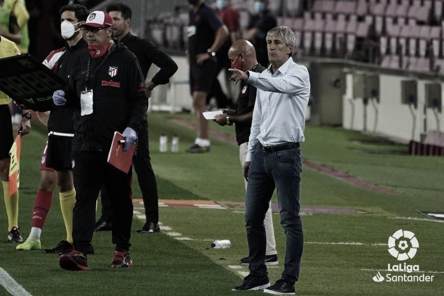 """Setién lamenta empate com Atleti, mas ressalta: """"Sabíamos que seria muito difícil"""""""
