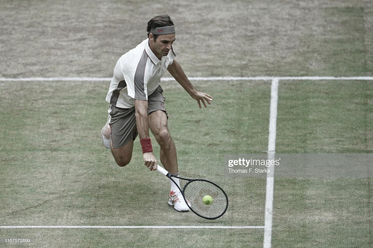 Federer, a una victoria de su décimo título en Halle