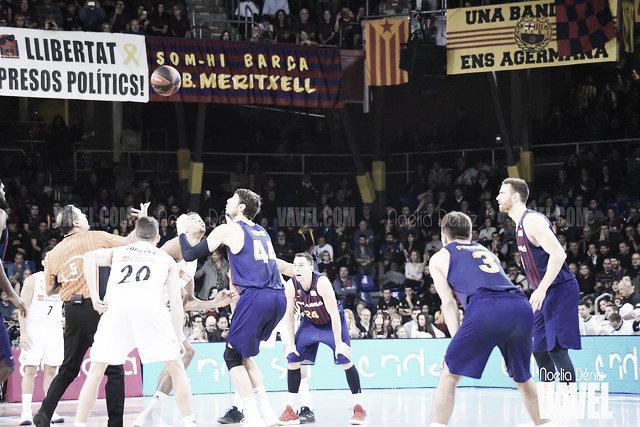 Resumen FC Barcelona Lassa vs Real Madrid tercer partido Play-Off ACB