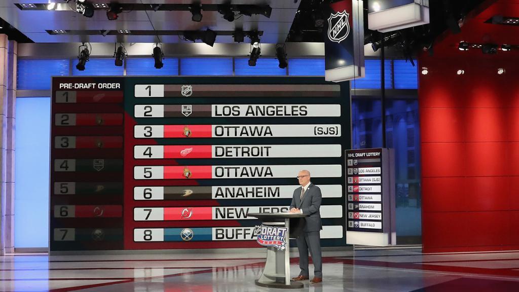 La lotería del Draft de la NHL 2021 será el 2 de junio