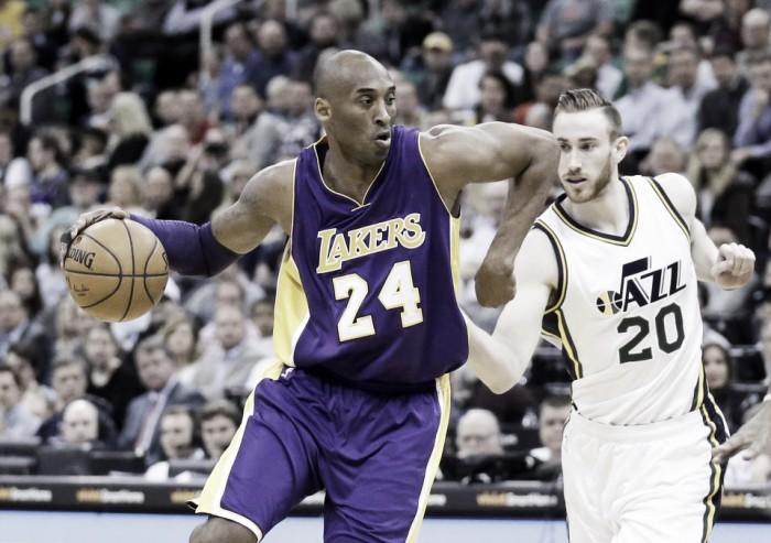 No jogo de despedida de Kobe Bryant, Lakers recebem Utah Jazz que buscam vaga nos playoffs