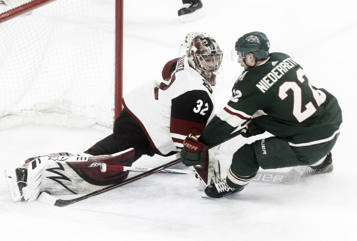 Arizona Coyotes shock Minnesota Wild in overtime