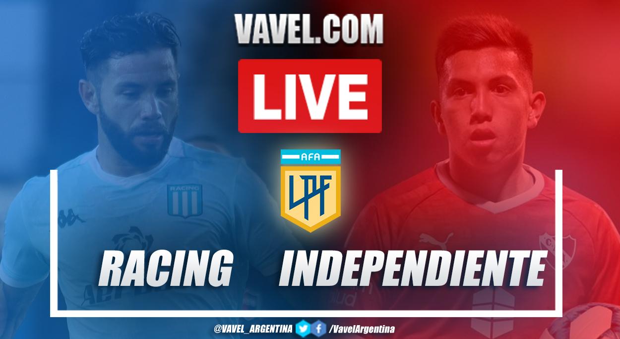 Resumen Racing vs Independiente (1-0) en la fecha 9 de la Copa de la Liga Profesional 2021