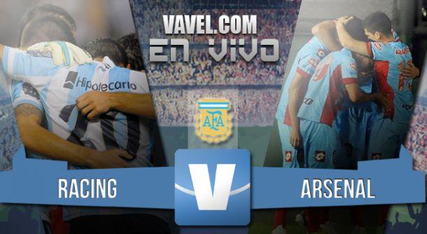 Resultado partido Racing - Arsenal 2015 (2-1)